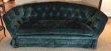 """Green Upholstered Sofa - 85"""" Long"""