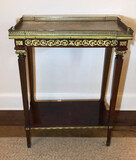 """Side Table with Brass Decorations - 25"""" x 15"""","""