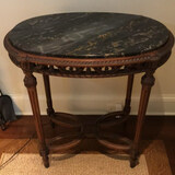 """Marble Top Side Table - 28"""" x 19"""", 28 1/2"""" H"""