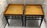 (2) Bunching Tables on Metal Casters--27 1/2
