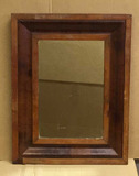 Antique Mirror in Wooden Frame--26 3/4