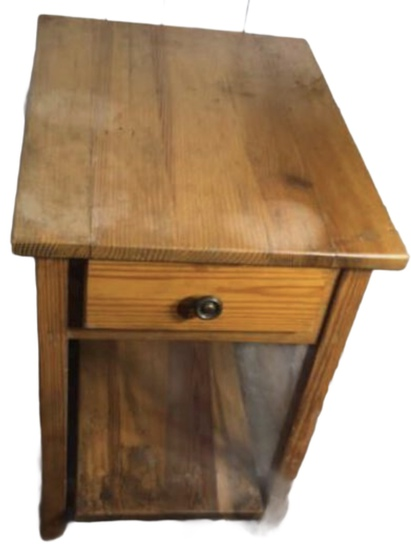 Hand Made One Drawer Pine End