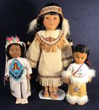 (3) Native American Dolls