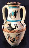 Signed Native American Handled Vase, 14 1/4 in.