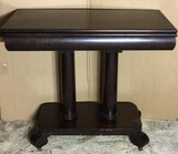 Empire Mahogany Game Table on Wooden Casters,