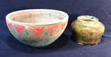 Vintage Decorative Ceramic Bowl and Small