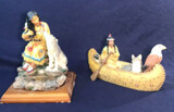 Native American Resin Figurines: Maiden with