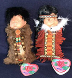 (2) Albert E Price Hello Dolly dolls with bisque