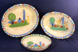 Set of 3 Mexican Pottery Decorative Bowls (Not