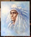 Unframed Painting Signed T. Hawkins -  20'' x 23