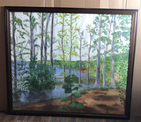 Framed Unsigned Painting - 47 1/2'' x 41''