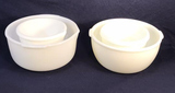 (4) Assorted Vintage Milk Glass Mixing Bowls