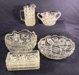 (7) Assorted Vintage Cut Glassware: Federal