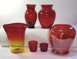Assorted Glassware: Vintage Anchor Hocking Ruby 6