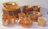 (56) Assorted Vintage Fire King Peach Luster Ware