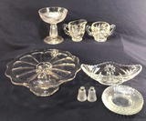 Assorted Vintage Glassware: Sugar and Creamer;
