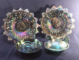 Assorted Vintage Iridescent Carnival Glass: (2)