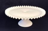 Vintage Fenton Ruffled Milk Glass Hobnail