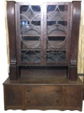 Antique Buffet/China Cabinet (Married Piece)--