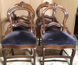 Set of (4) Victorian Dining Chair, Carved and