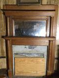 Antique Oak Mantle - 60 1/2