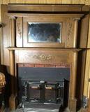 Antique Oak Mantle - 61