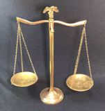 Vintage Brass Scale with Eagle