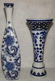 (2) Blue & White Porcelain Items