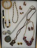 Assorted Costume Jewelry: Vintage Terra Sancta