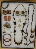 Assorted Costume Jewelry: Vintage Locket,