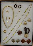 Assorted Costume Jewelry:Pierced & Clip E
