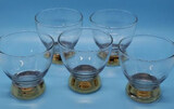 (5) Gold Trimmed Rocks Glasses