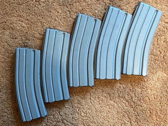 Five (5) AR-15 30 round BCM magazines (used):