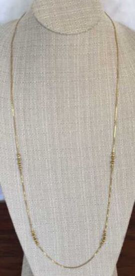 """35 1/2"""" 14 Kt  Yellow Gold Necklace"""