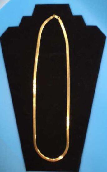 """24"""" 14 Kt Gold Herringbone Chain"""