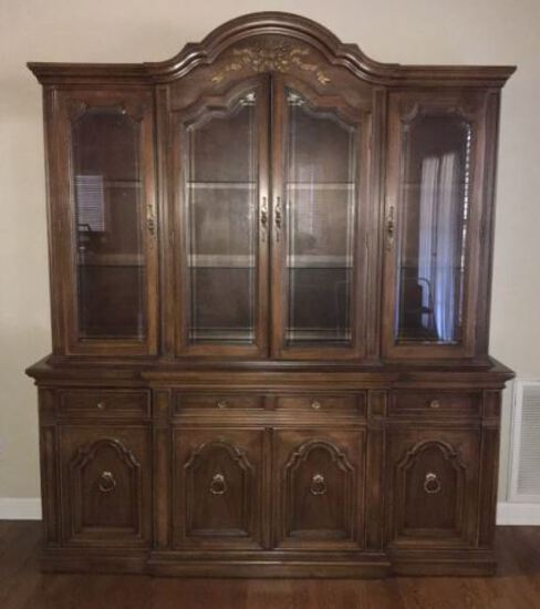 Triple Thomasville Lighted China Cabinet—(4)