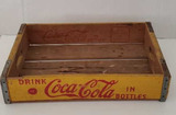 Yellow Coca Cola Wooden Crate