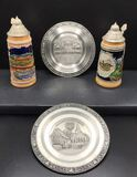 Pewter Souvenir Plates: Ludwigsburg and
