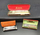 (3) Harmonicas: Golden Melody, M. Hohner Made in