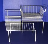 (3) White Cabinet Racks and (1) Slide-in Basket