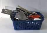 Basket with Assorted Kitchen Utensils