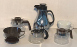 Assorted Coffee Carafes and (2) Melitta Filter