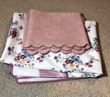 """(2) 31"""" Square Tablecloths Made in Germany and"""