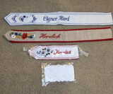 (4) Sashes: (3) German Embroidered