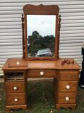 Maple Vanity and Mirror—44 1/2'' x 18 3/8'',