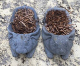 (2) Resin Rabbit Yard Ornaments