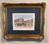 Framed, Matted and Signed 1993 Watercolor of
