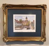 Signed, Framed and Matted 1993 Watercolor