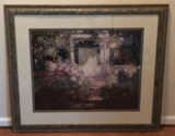 """Framed Picture—""""Doorway and Garden""""—39 1/4"""" 34"""""""