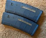 Two (2) AR-15 30 round magazines: